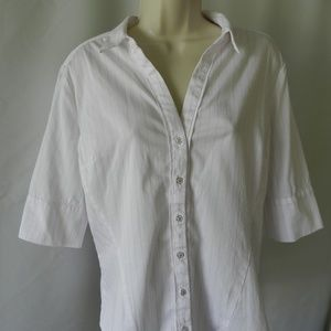 NY& Co Womens Button Down Shirt L